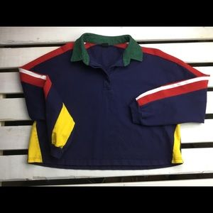 Urban Outfitters Cropped Rugby Shirt Large     T14